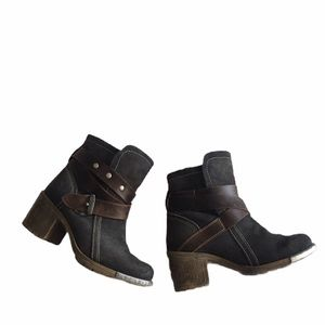 FLY LONDON SUEDE & LEATHER BOOT